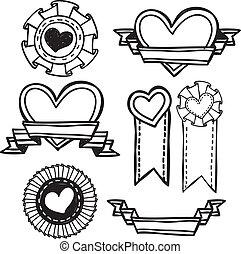 love emblem doodle