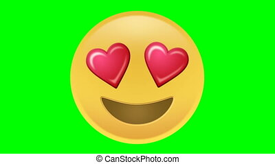 Love Emoji - This animated Emoji is part of a collection,...