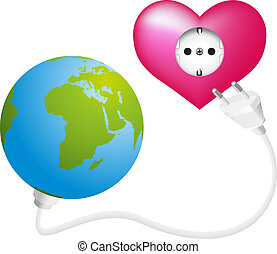 Love Energy - Globe that gets power and energy from a...