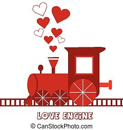 Love engine greeting card