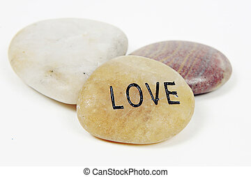 Love engraved on stone