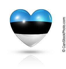 Love Estonia, heart flag icon