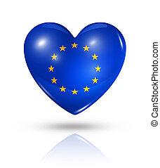 Love European union, heart flag icon - Love European union ...