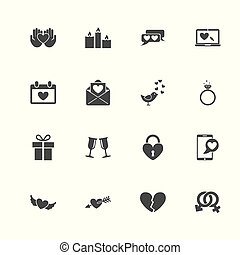 Love - Flat Vector Icons