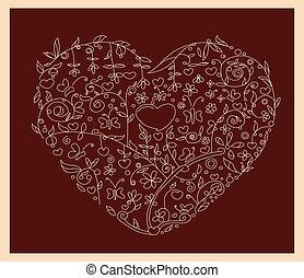 love floral brown