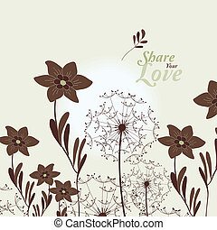 Love Flowers Elegant Card