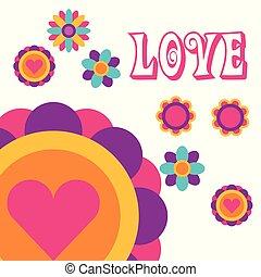 love flowers love heart bohemian hippie free spirit
