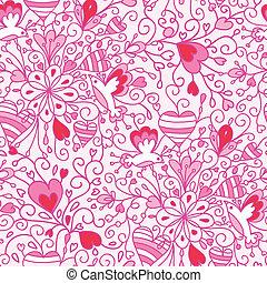 Love flowers seamless pattern background