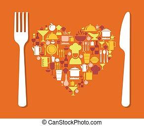 Love food illustration