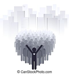 Love for the big city. Abstract illustration of a designer...