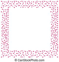 love frame card hearts decoration blank space text