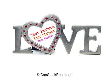 love frame on the white background