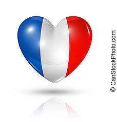 Love France, heart flag icon