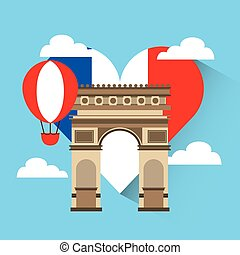 love france heart travel
