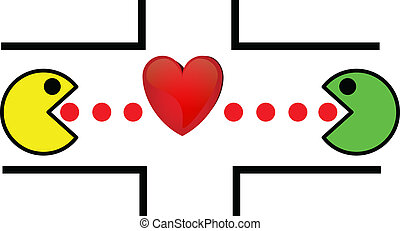 love game vector illustration