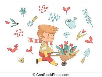 Love Gardener set, Dodo people collection