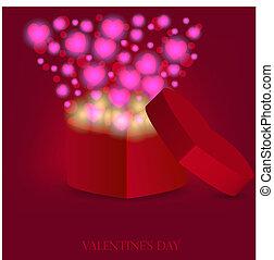 love gift for valentine's day. Vector illustration