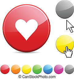 Love glossy button.