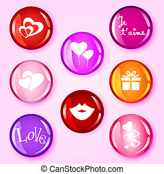 Love glossy buttons