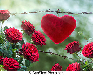 love - good relationship is a thorny path