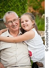 Love - grandparent with grandchild portrait
