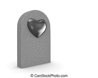 Love grave - Love, valentine day series; 3d isolated...