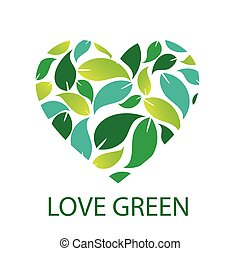 Love green with green leaves