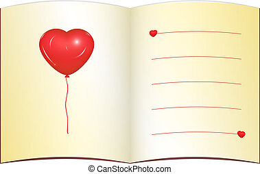 Love greeting card with place for text