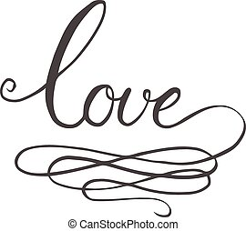 Love hand-drawn calligraphy