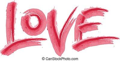 Love. Hand drawn calligraphy.