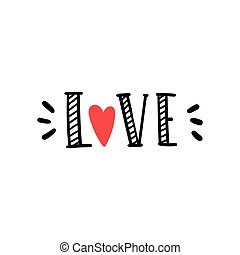 Love. Hand drawn word.