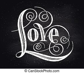 Love. Hand lettering