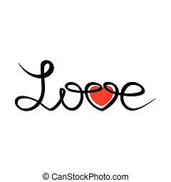 love handdraw text - Love happy valentines day hand drawn ...