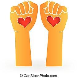 Love hands logo
