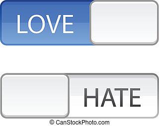 Love hate slide button
