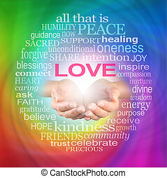 Love Heals Word Cloud