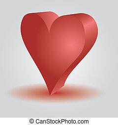 love heart 3d eps10