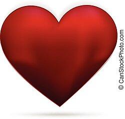 Love heart 3d vector logo