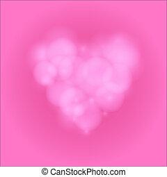 Love heart background bokeh vector