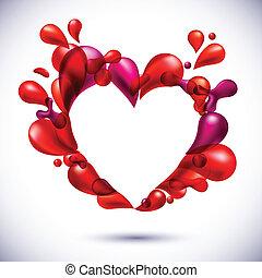 Love heart background.