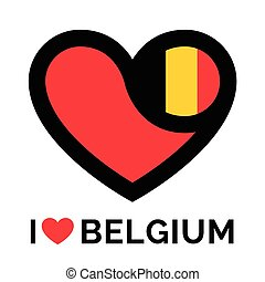 Love heart Belgium flag icon