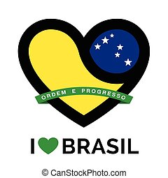 Love heart Brasil flag icon