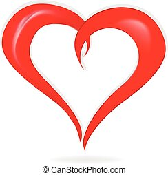 Love heart card logo