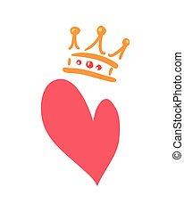love heart crown
