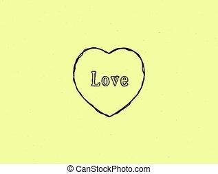 4K video love heart animation