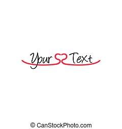 love heart decoration symbol vector