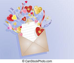 love heart envelope