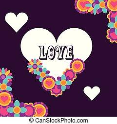 love heart flowers floral decoration hippie free spirit
