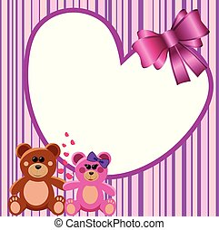 Love Heart Frame Teddy Bears