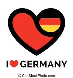 Love heart Germany flag icon